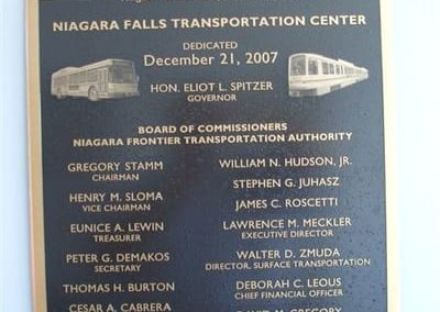 Cast and Carved Plaques Niagara Falls Transportation Center