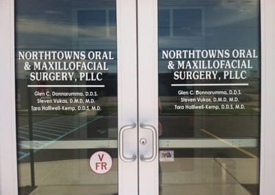 Window Vinyl Graphics Northtowns Oral and Maxillofacial Surgery
