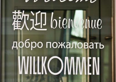 Vinyl Window Graphics Welcome Center