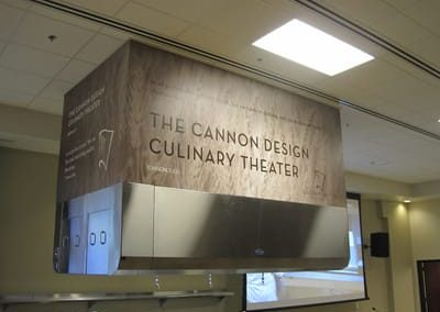 Digitally Printed Signs The Cannon Design Culinary Theater