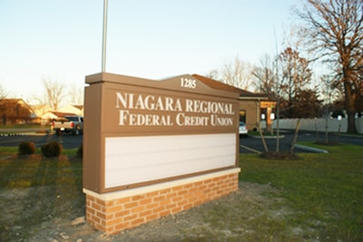 Exterior Illuminated Niagara Regional Federal Credit Union