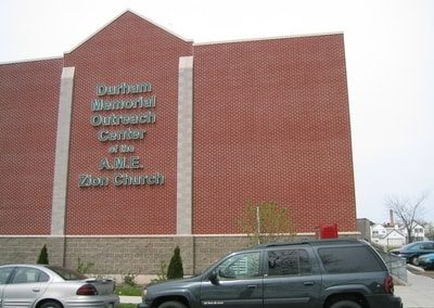 Exterior Illuminated Letters Durham Memorial Outreach Center