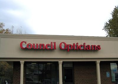 Illuminated Letters Council Opticians