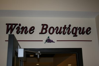Letters Dimensional Wine Boutique