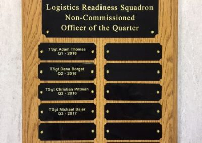 Plaques-107th Niagara Falls Air Reserve Base