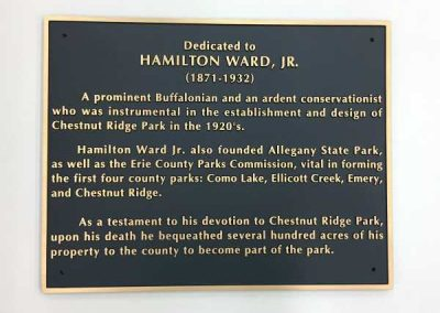 Carved Plaques-Chestnut Ridge Park Hamilton Ward Jr-Interior