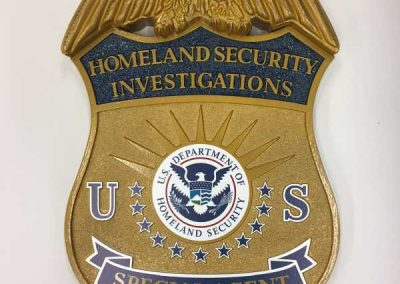 Plaques-US Homeland Security HDU-Interior