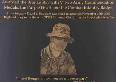 Plaques-Sgt Roustum-Dedication