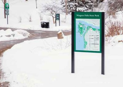 Post and Panel Niagara Falls States Park Map