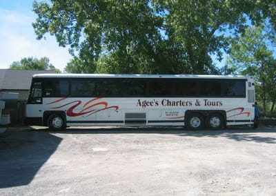 Vehicle Wraps Agee's Charters and Tours