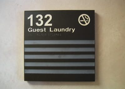 ADA and Wayfinding Room Sign Guest Laundry