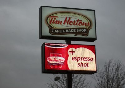 LED Message Center Tim Horton's