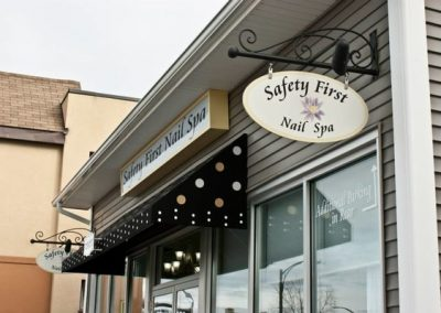 Blade Signs Safety First Salon