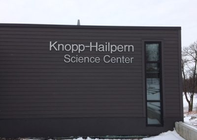 Exterior Dimensional Letters Knopp Hailpern Science Center