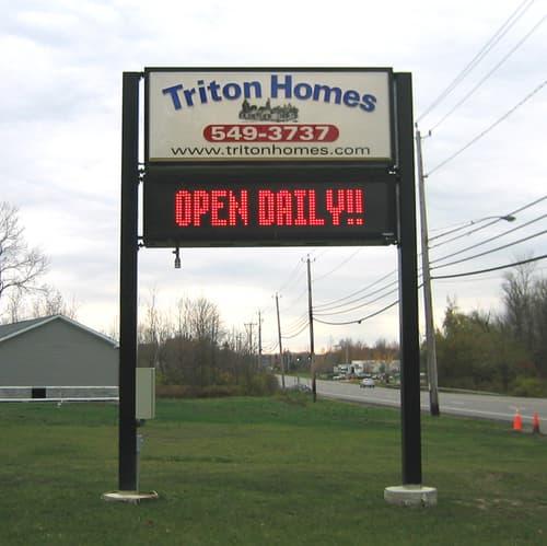 LED Message Center Triton Homes