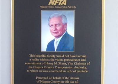 Dedication Plaque Niagara Falls Transportation Center