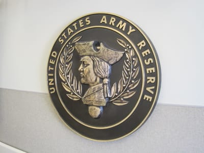 Cast and Carved Plaques United States Army Reserve