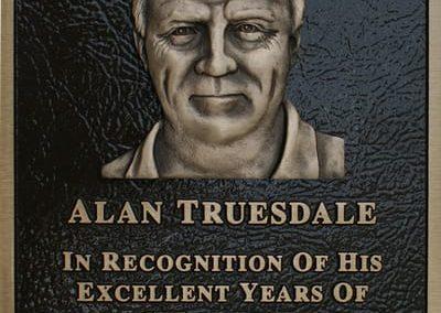Recognition Plaque Alan Truesdale, Lewiston-Porter Central School District