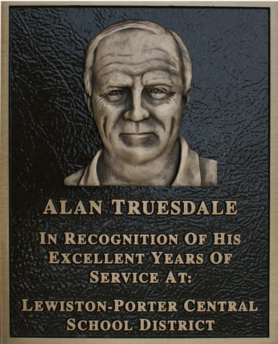 Recognition Plaque Alan Truesdale, Lewiston-Porter Central School District