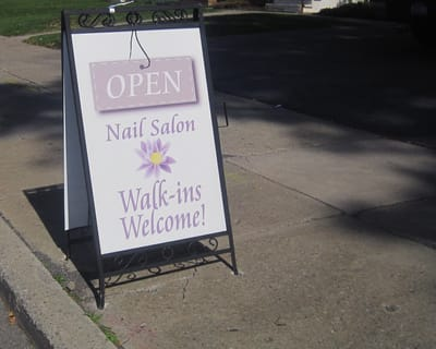 Exterior Digitally Printed Signs A Frame