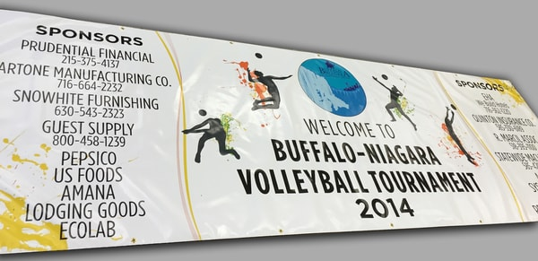 Digitally Printed Vinyl Banner Buffalo Niagara Volleyball Tournament
