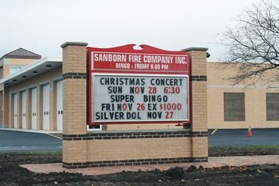 Exterior Illuminated Sanborn Fire Company