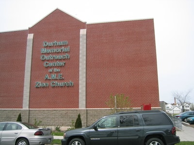 Exterior Illuminated Letters Durham Memorial Outreach Center Edgewater Apartments