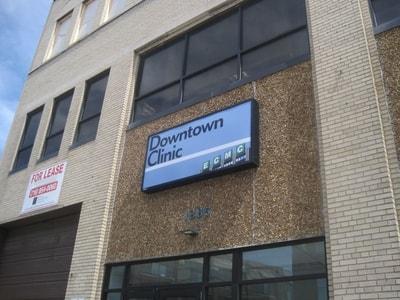 Exterior Illuminated Sign Erie County Medical Center