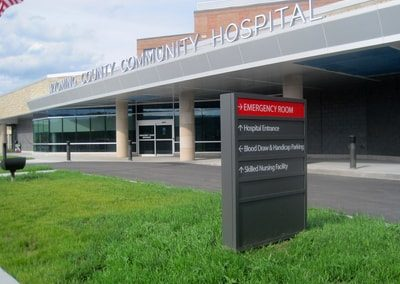 Exterior Illuminated Wyoming County Community Hospital