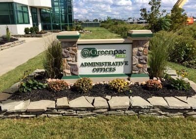 Exterior Monument Greenpac Mill Administrative Offices