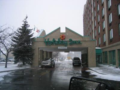 Illuminated Letters Holiday Inn EntranceNiagara County Erie County Sign Company NYS WBE Appleton Barker Burt Gasport Lewiston Lockport Middleport Newfane Niagara Falls North Tonawanda Olcott Ransomville Sanborn Wilson