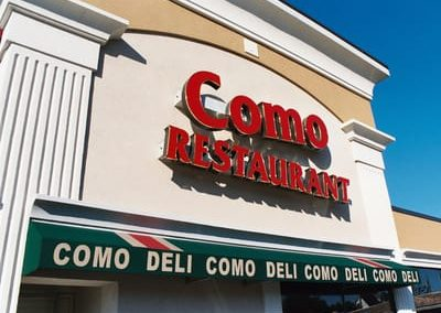 Illuminated Letters Como Restaurant