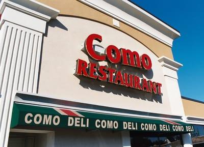Illuminated Letters Como Restaurant