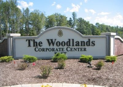 Letters Dimensional Woodlands Corporate Center