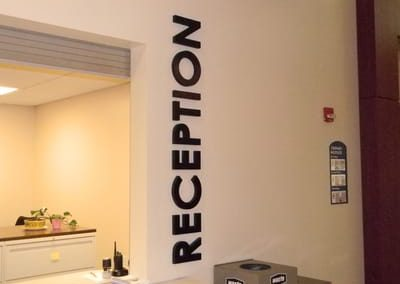 Letters Dimensional Reception Area Sign