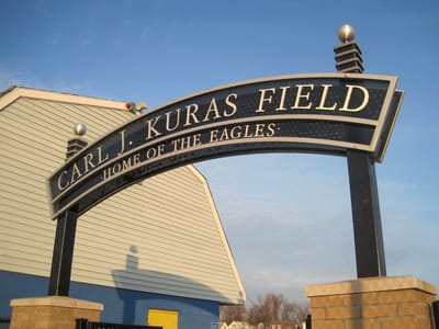 Letters Dimensional Carl J. Kuras Field NYS WBE Sign Company Buffalo Niagara