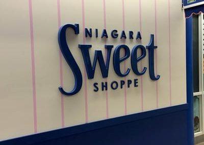 Letters Dimensional Niagara Sweet Shoppe