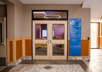 Buffalo, New York Erie County, NY Medical Hospital Digitally Printed fabricated aluminum wall mounted Interior Signs ADA and Wayfinding