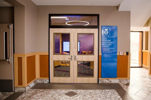 Buffalo, New York Erie County, NY Medical Hospital Digitally Printed fabricated aluminum wall mounted Interior Signs ADA and Wayfinding
