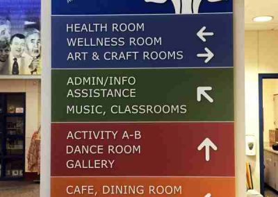 Amherst Senior Center Acrylic ADA Signs Digitally Printed Panel Signs Interior Signs ADA and Wayfinding Amherst, NY Erie County, NY Organization Senior Center