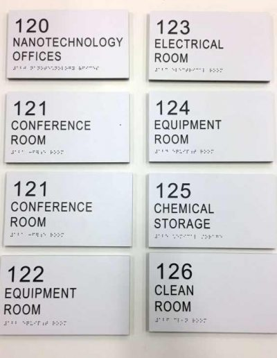 ECC STEM NANOTECH Acrylic ADA Signs Room Signs Panel Signs Interior Signs ADA and Wayfinding