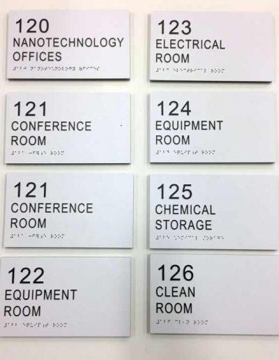 ECC STEM NANOTECH Acrylic ADA Signs Room Signs Panel Signs Interior Signs ADA and Wayfinding