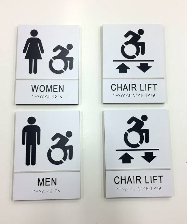 ECC STEM NANOTECH Acrylic ADA Signs Rest Room Signs Panel Signs Interior Signs ADA and Wayfinding