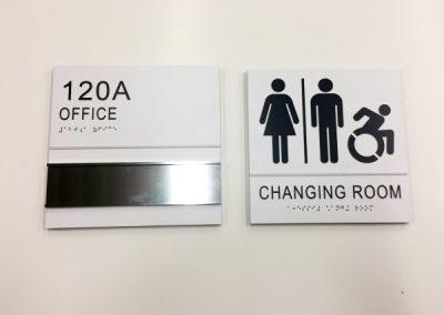 ADA Room Wayfinding Signs-ECC STEM NANOTECH