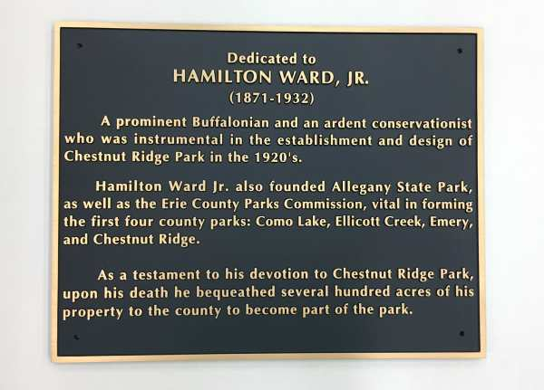 Hamilton Ward Jr. Bronze Cast Plaque Dedication Plaque Interior Signs Interior Signs Cast and Etched Plaques