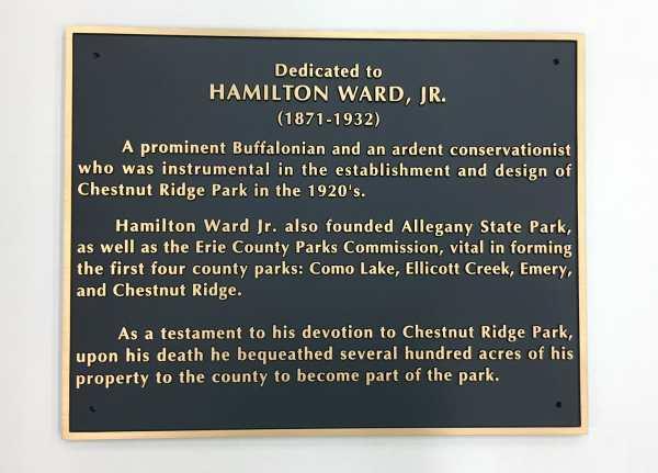 Hamilton Ward Jr. Bronze Cast Plaque Dedication Plaque Interior Signs Interior Signs Cast and Etched Plaques