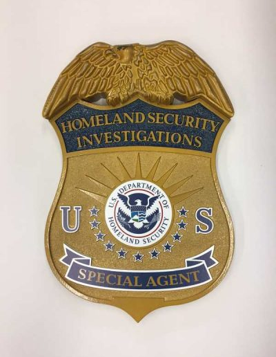 Homeland Security HDU Carved carved sign medallion Interior Signs Displays Plaques Buffalo, New York Erie County, NY Government Homeland Security