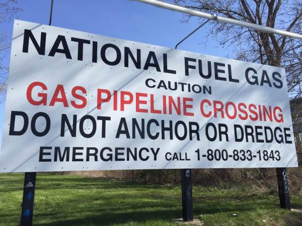 National Fuel Aluminum grafitti proof safety sign billboard sign Exterior Signs Non Illuminated Signs Billboard Graphics New York State Erie County, NY Organization utility company
