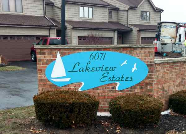 Lakeview Estates Wood Digitally Printed graphic design Exterior Signs Non Illuminated Signs Building and Entrance Signs Youngstown, NY Niagara County, NY Businesses housing