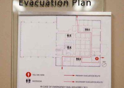 ADA Wayfinding-Airport Fire Station Evacuation Map